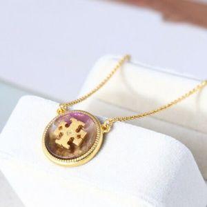 Tory Burch Semi-Precious Stone Pendant Necklace